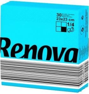 RENOVA Servet blauw 23x23 200060317