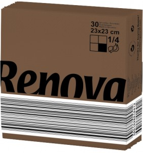 RENOVA Servet bruin 23x23 200061747