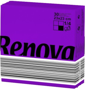 RENOVA Servet paars 23x23 200061748