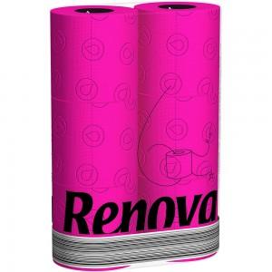 Roze toiletpapier (fuchsia) RENOVA 200045684