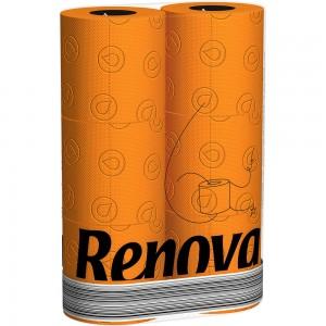 Oranje toiletpapier RENOVA 200042777
