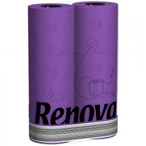 Paars toiletpapier RENOVA 200061630