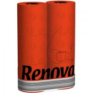 Rood toiletpapier RENOVA 200042415